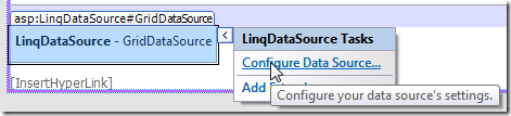 LinqDataSource Tasks