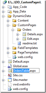 Copy and rename to OrdersTable.aspx