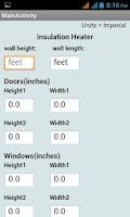 Screenshot of Insulation Calculator