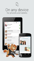 Screenshot of myChat — video chat, messages
