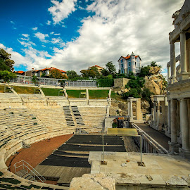 An ancient Rome theatre by Vanko Dimitrov - City,  Street & Park  Historic Districts ( ancient, theatre )