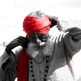Indian Sadhu by Suneel Choudhary - People Portraits of Men