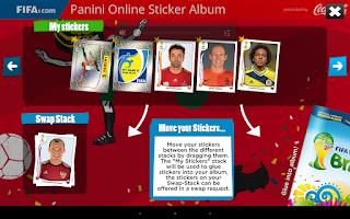 Screenshot of Panini Online Sticker Album