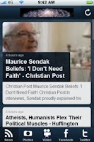 Screenshot of Atheism News