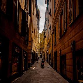 Genoa on wheels! by Ethan Fox Miles - City,  Street & Park  Street Scenes