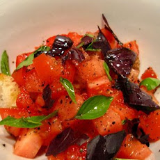 Tomato, bread and basil salad