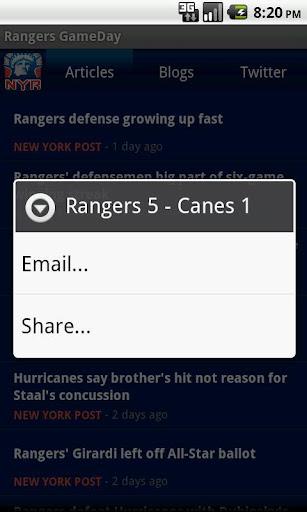 Rangers GameDay