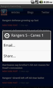 Rangers GameDay - screenshot