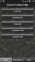 Screenshot of Goose Hunting Calls