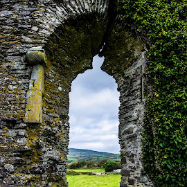Looking into the Past by Nathan Jesse - Landscapes Travel ( ireland, castles, windows, ruins, landscapes )