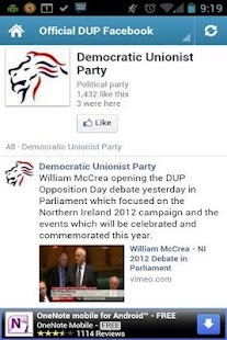 DUP - Northern Ireland`s Party - screenshot