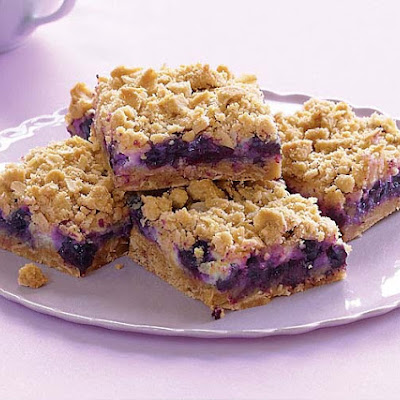 Blueberry Streusel Bars with Lemon-Cream Filling
