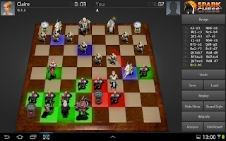 Screenshot of SparkChess HD Lite