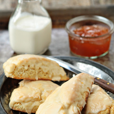 Glazed Orange Scones