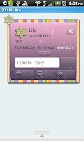 Screenshot of GO SMS THEME/GlitterRainbow