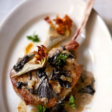 Roasted Veal Chops with Artichokes Recipe