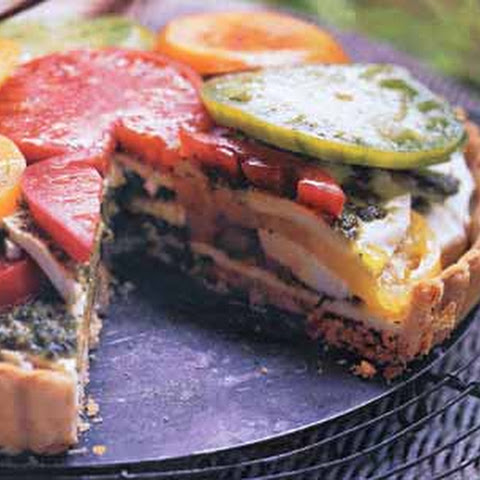 mix heirloom tomato and mozzarella tart recipe yummly heirloom tomato ...