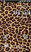 Screenshot of Leopard GO Locker theme