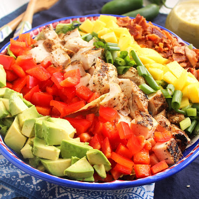 Caribbean Cobb Salad with Fire-Roasted Pineapple Vinaigrette