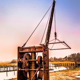 The Old Boat Crane by Thorkild Holmboe-Hay - Artistic Objects Industrial Objects