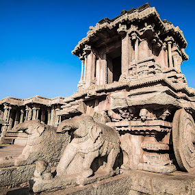 hampi by Gurucharan Shamji - Buildings & Architecture Public & Historical ( temple, history, hampi, chariot, india )