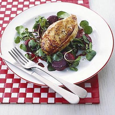 Chicken With Beetroot & Watercress