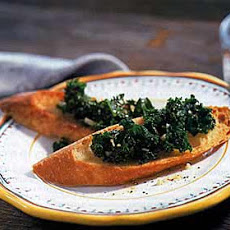 Braised Kale Crostini