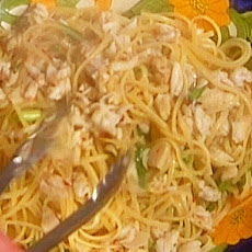 Linguine with Crab, Radicchio, and Garlic