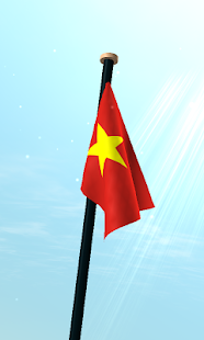 Vietnam Flag 3D Live Wallpaper - screenshot