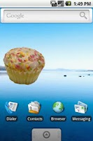 Screenshot of Cupcake Widget Stickers FREE