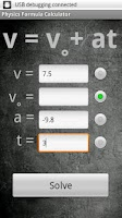 Screenshot of Physics Formula Calc LITE