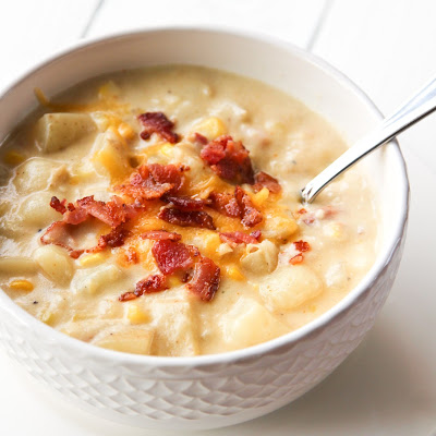 Potato Corn & Bacon Chowder