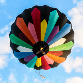 Hello Overhead by Dave Dabour - Transportation Other ( hot air balloon, 2014. media day, overhead, balloon, nj festival of ballooning )