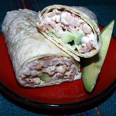 Avocado, Bacon and Shrimp Wraps