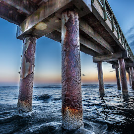 Morning at the Pier by David Long - Buildings & Architecture Bridges & Suspended Structures ( saint augustine, florida, st johns pier )