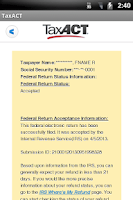Screenshot of TaxACT Central