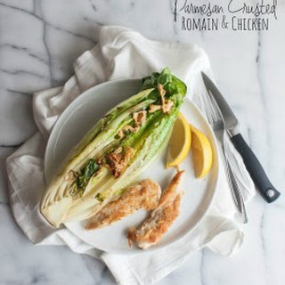 Parmesan Crusted Romaine and Chicken {and eating better with health key}