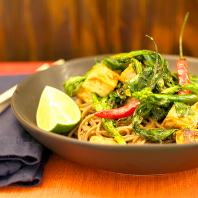 Tofu & Chinese Broccoli with Soba Noodle Salad