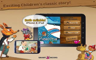 Screenshot of Pinocchio - Animated storybook