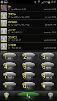 Screenshot of exDialer Gold Theme