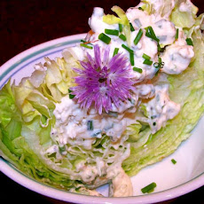 Iceberg Lettuce Wedges W/Creamy Blue Cheese Dressing