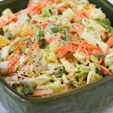 Napa Cabbage Slaw Recipe with Carrots and Fennel Seed Dressing