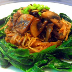 Sauteed Bean Sprouts and Spinach
