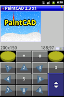 Screenshot of PaintCAD image editor