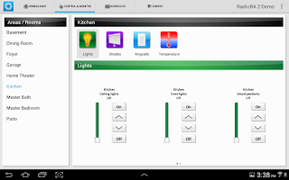 Screenshot of Lutron Home Control+
