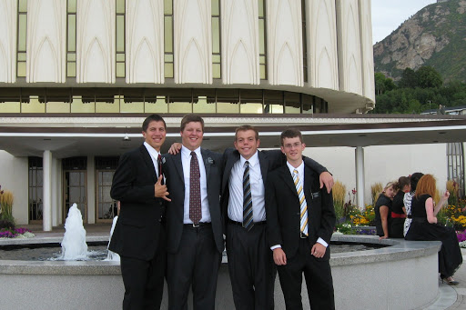 Tyler and Roommates at Provo Temple