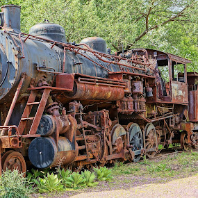 The Last Siding by Jim Czech - Transportation Trains ( engine, locomotive, steam train, train, rust, trains,  )