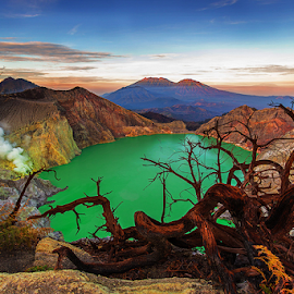 Ijen Crater by Budi Astawa - Landscapes Travel ( acid, mount, acid lake, ijen, lake )