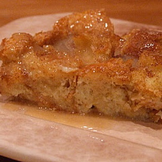 Irish Bread Pudding with Caramel- Whiskey Sauce