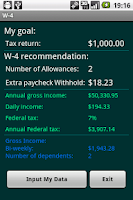 Screenshot of W-4 Fed.Tax Return Management